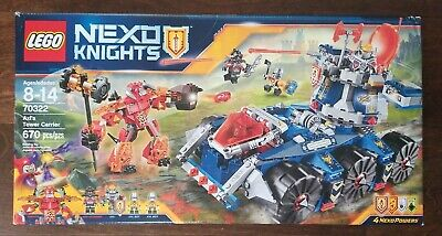 NEW Lego Nexo Knights #70322 Axl's Tower Carrier 670 Pieces Ages 8 - 14 Sealed