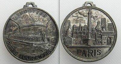 Collectable French Medal / Medallion - Vedettes Paris Tour Eiffel
