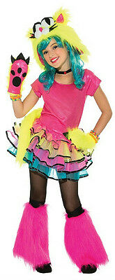 Party Cat Girls Tutu Monster Child Costume Size Large 12-14](Cat Costumes Kid)
