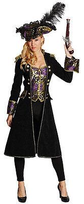 Piratenmantel mit integrierter Weste für Damen NEU - Damen Karneval Fasching Ver