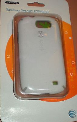 Speck CandyShell hybrid case for Samsung Galaxy Express AT&T i437P, White & Gray ()