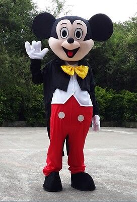 Adult Mickey Mouse Mascot Costumes Handmade Cosplay Disney Character Fancy Dress - Disney Character Fancy Dress Adults
