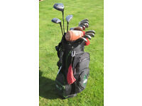 Ladies/youths Yonex golf clubs, bag and pull trolley. Ti driver, 2 woods , 9 irons & putter - used