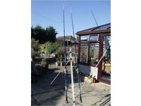 Two Beach Casters, Pier Rod, Spinning Rod, 3 Reels, 2 Rod Rests plus Accessories.