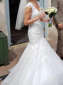 Mori Lee ivory wedding dress style 2882, stunning dress