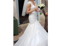 Mori Lee ivory wedding dress style 2882, stunning dress