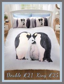 Penguin Duvet Set - Double £21, King £25
