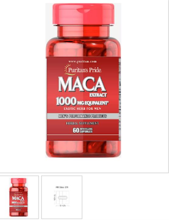 Puritan's Pride Maca 1000 mg Exotic Herb for Men - 60 Capsul
