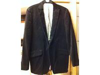 Mexx velvet pinstripe blazer jacket size EU 52 ENG 42 large!