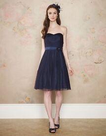 Monsoon size 12 navy prom dress
