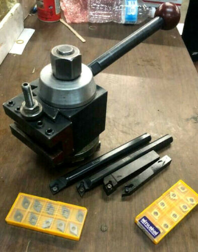 Phase 2 II Quick Change Tool Post Set Holders BXA INDEXABLE TOOLS & 20 C INSERTS