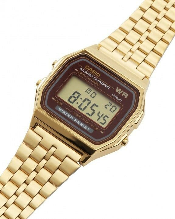 11e307bb397 Casio A159WGEA-5 Mens Gold Tone Stainless Steel Digital Watch Vintage Retro  NEW