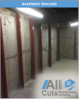 Engineering and Basement Bracing Services, Concrete Cutting/More