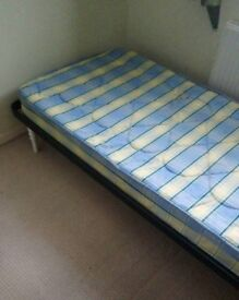Single bed mattress, duvet, duvet set.