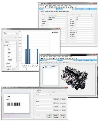 Automotive Body Repair Shop Engine Transmission Body MORE Inventory Software CD