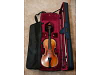 Old German Violin Full size (4/4) Over 100 yo. Beautiful sound. Antonius Stradiuarius Cremonenfis