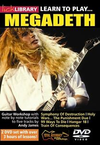 DVD Lick Library Learn to play Megadeth + CD backing tracks