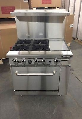 New 36 Range 4 Burners 12 Griddle 1 Full Oven Stove Nat Gas Free Liftgate Del