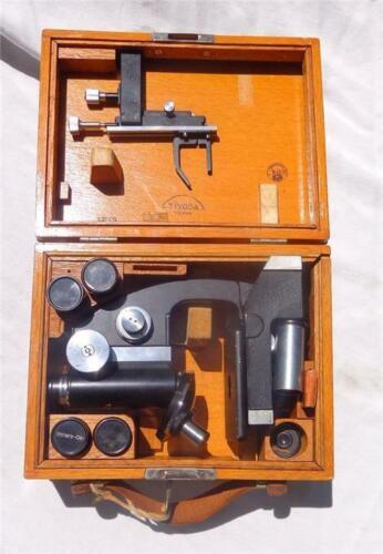 Antique Tiyoda Microscope in Original Wood Case from Marineland St. Augustine