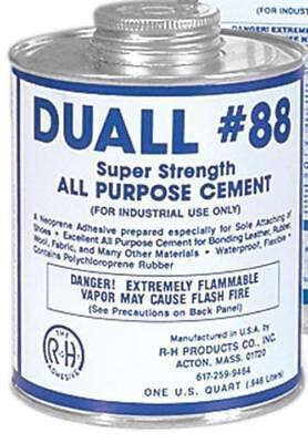 1 Quart Shoe Care Repair Glue Adhevise Duall-88 Neoprene Cement