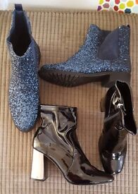 2 pairs size 4 boots worn once