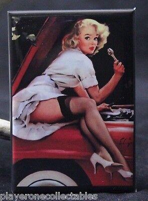 Naughty Auto Shop Pinup Girl 2