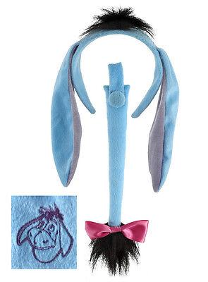 Disney Eeyore Adult Child Kid Costume Headband Ears Tail  Accessory Kit Elope (Adult Child Costume)