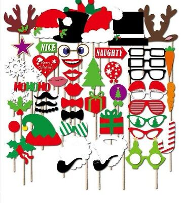 50 Themed Party (50pcs Christmas Theme Photo Booth Prop Party Decoration Supply QFPP013)