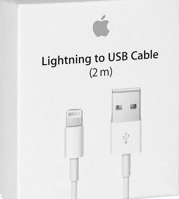 2M Lightning USB Cable For Apple iPhone 6, 6S Plus, 5, 5C, 5S Data Sync Charge