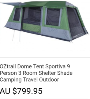 Oztrail sportiva tent $350 firm used once brand new condition  sc 1 st  Gumtree & Oztrail Sportiva Villa 12 Person Family Tent BRAND NEW | Camping ...