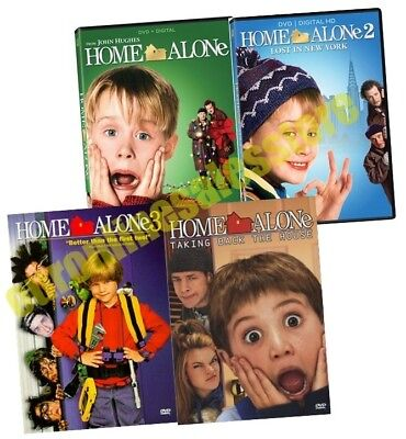 Home Alone Collection 1 2 3 4 Film Series DVD Set Collection Kid Children Family (Home Alone 1 2 3 4)