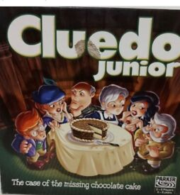 CLUEDO JUNIOR-The Case of the missing Chocolate Cake-Board Game-