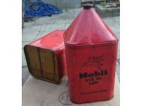 Vintage Barn Find Oil Can Petrol Mobil 1 Antique Sign