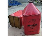 Vintage Barn Find Oil Can Petrol Mobil 1 Antique Sign