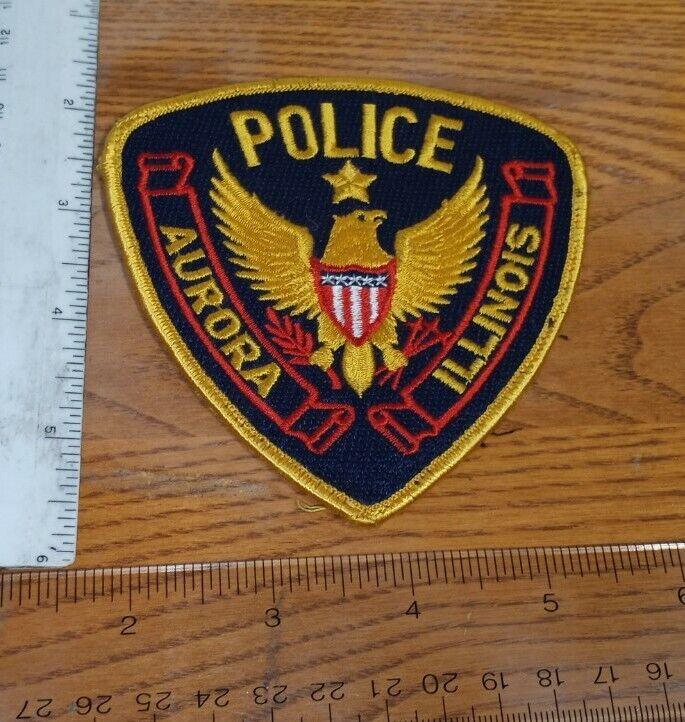 Vintage Aurora Illinois Police Shoulder Patch