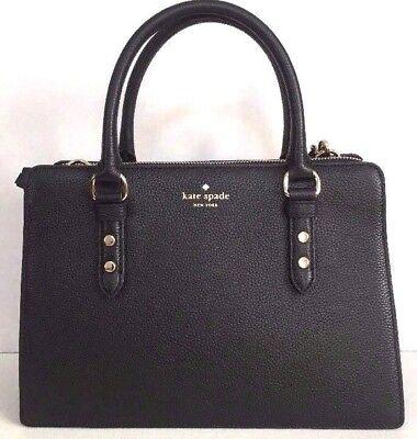 NWT Kate Spade Lise Mulberry street Leather Satchel handbag Black