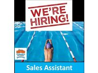 Enthusiastic Sales Assistant wanted for successful Swimming Pool Company