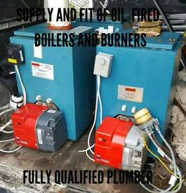 Supply and fit of oil fired boilers and burners all fully serviced £380