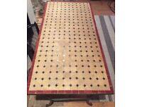 Beautiful Industrial Mosaic & Metal Coffee Table