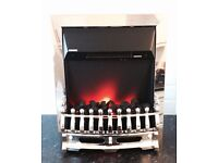 As New Living Flame Electric Fire
