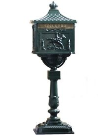 Victorian Vintage Style Freestanding Postbox/Letterbox in Green