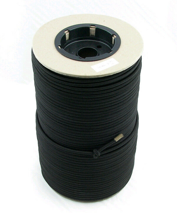 "3/16"" x 500 ft black bungee cord"