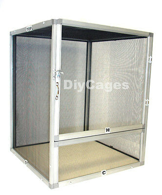 XL 20x16x16 Screen Reptile Cage DIY CAGES SC-1- FREE SHIPPING - ALUMINUM NEW