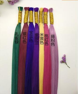 65cm Human Hair Micro Braiding Box Braids Best Quality Bulk Hair REMY Virgin
