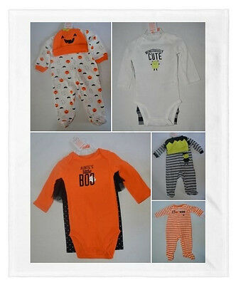 Baby Halloween Sleepers (NEW Infant/Baby Boy/Girl My First Halloween One Piece Sleeper & Outfits~You)