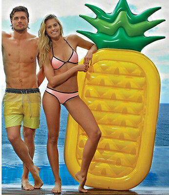 Giant 76  Pineapple Pool Party Float Raft Summer Outdoor Swimming P
