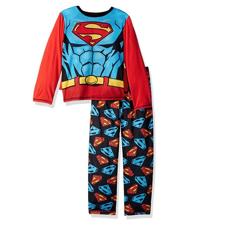 DC Comics Boys 2 Piece Pajama Set with Cape Size 8