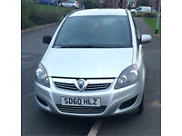 2010/60 REG VAUXHALL ZAFIRA 1.6 LIFE FSH LONG MOT TWO KEYS