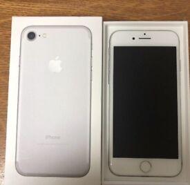 iPhone 7 32gb white silver locked Three