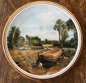 Collector Plate Of John Constable's Boat Building Near Flatford Mill- Edwardian